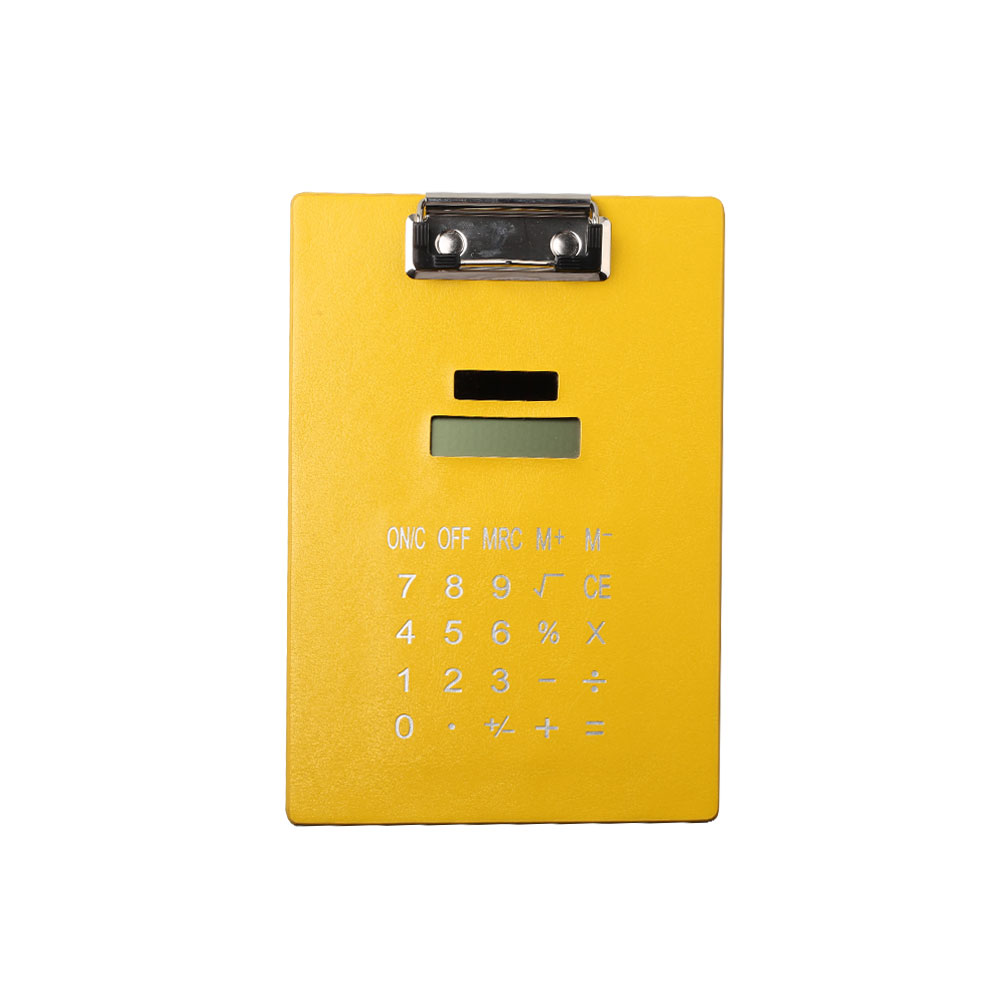 8 Digits Colorful Clip Board Calculator with Solar Power