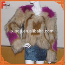 abrigo de piel de perro mapache