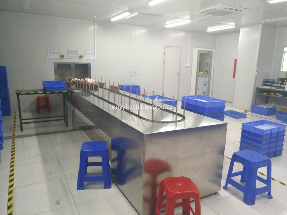 Plastic Conveyorised Uv Varnish Spray Painting Line
