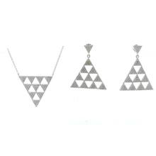 Mais novo design para a mulher 925 conjuntos de jóias de prata (s3318)