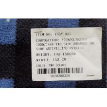 Poliéster Fdy Impresión Micro Fleece Tejido de dos lados