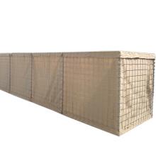 75x75mm 80x80mm hesco barrier/hesco wire mesh bastion mil7/ Kenya mil12 hesco