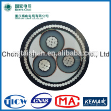 8.7 / 10kV XLPE aisló 3 Cores 120sqm m cable eléctrico - Cuadrícula del estado