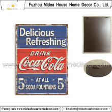European Home Decor Coca-Cola Style Metal Wall Plaque