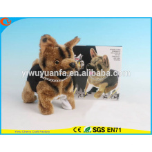 Novelty Design Kids' Toy Colorful Walking Electric Skip Stuffed Black Dog