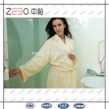Benutzerdefinierte Farbe Handtuch Stoff Super Soft Cut Samt Stil Baumwolle Weiß Terry Bademantel