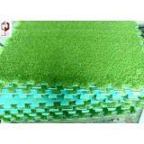 Landscaping Artificial Grass , Green Fake Turf Grass 3/8inc
