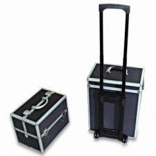 Multi-purpose Aluminum Tool Case with Trolley System and Trays Inside
