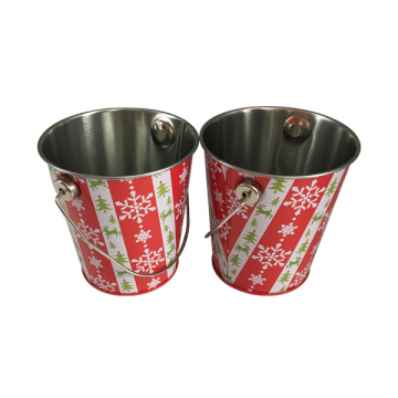 Handle Tin Bucket Metal Promotion Gift Vente en gros Gift Tin