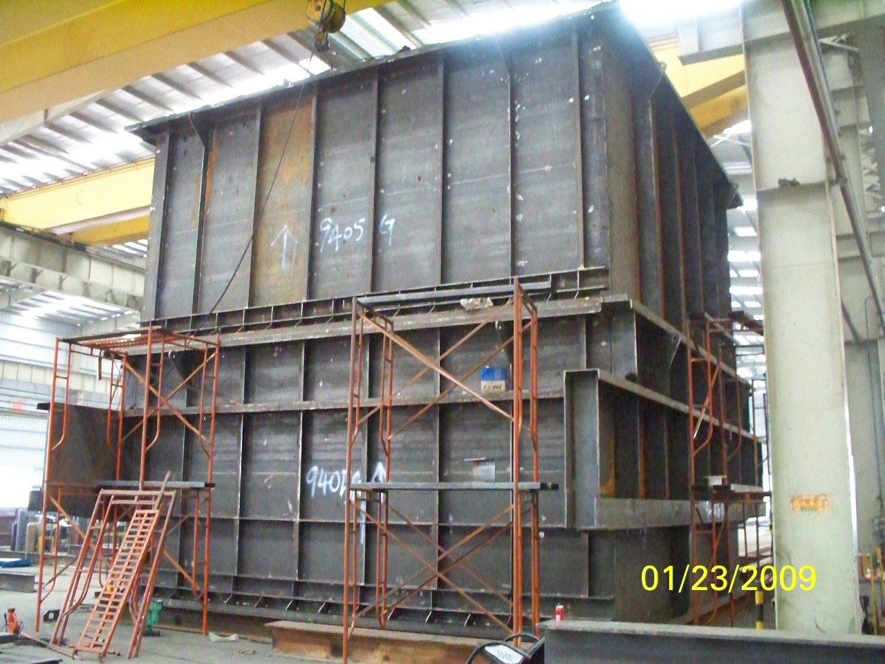 Steel Structures Exhaust System For French Alstom Power Plant Equipment pic five
