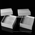 Caja criovial de 100 pocillos, caja congeladora para tubo criovial de 5 ml