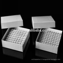 Boîte cryoviale 100 puits, boîte de congélation pour tube cryovial de 5 ml