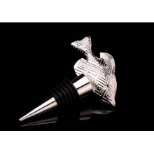 Fisch-Form-Gold überzogener Metallflaschenverschluss (GZHY-BS-022)