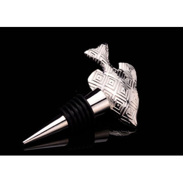 Fish Shape Gold Plated Metal Bottle Stopper (GZHY-BS-022)