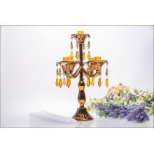 Porte-bougie d'or cinq affiches pour décoration de mariage