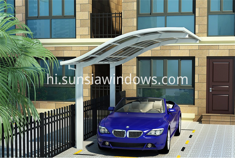 European Style Aluminum Single Carport