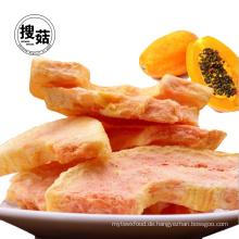 ISO-Säckchen-Grab-Beutel von gefriergetrockneten Papaya Chips Obst Snacks