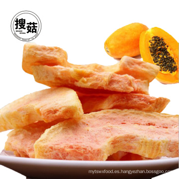 Bolso de agarre con bolsita ISO de Snacks de papaya liofilizados Snacks de fruta