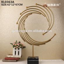 Königliches Gold Metall Haus Hotel Deocration Zubehör Metall Material Handwerk
