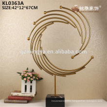 Royal gold metal home hotel deocration accessories metal material crafts