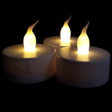 Decorative flickering LED tealight candles