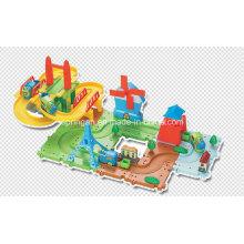Trens Set Blocks Jogos Toy