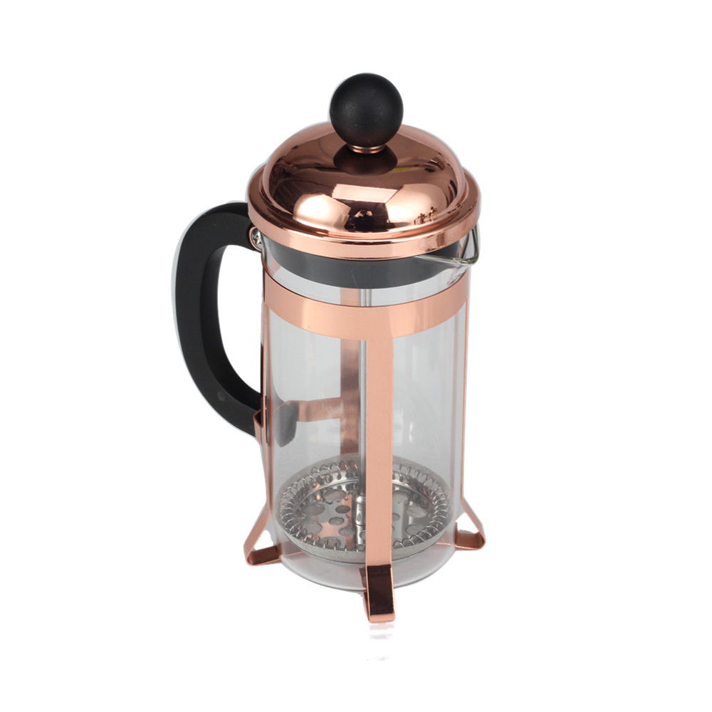 Heat Resistant Copper Frame Glass French Press