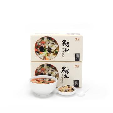 Quick various vegetables mushroom natural soup