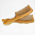 Detangling Anti static green sandalwood head massage comb