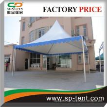 Tente d'ombre de jardin 6x6m pour fête en blanc ou en bleu