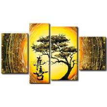 Pintura a óleo chinesa Handmade na lona