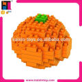 120pcs educational DIY plastic toy fruit orange nano loz diamond block