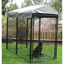 Schwarzer Metallpuder-überzogener Hundekäfig Großer Qualitätshundkiste Großverkauf