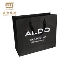 O logotipo luxuoso feito sob encomenda durável elegante do projeto da arte impressa leva o saco de papel de embalagem de sapatas para empacotar
