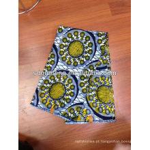 100% algodão 2014 novo design africano real estampas de cera tecido