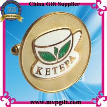 Bouton de manchette en or métallique pour cadeau promotionnel (m-ck04)