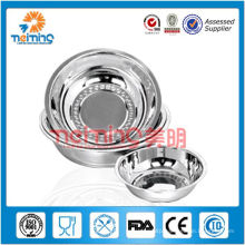 polishing stainless steel microwave bowl