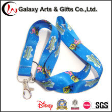 Cartoon Key Ribbon Lanyard with Snap Hook Attachment