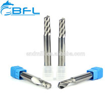 BFL CNC Single Flute Endmills, herramienta de fresado de corte acrílico de vástago largo de carburo