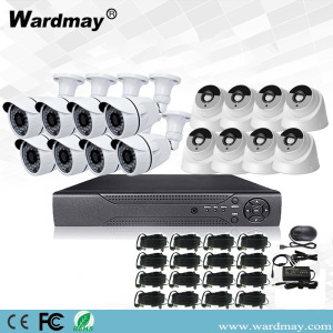 16CH 2.0MP Security Surveillance Alarm DVR-systeemkits