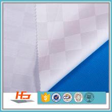 Wholele White Check 100% Polyester Fabric
