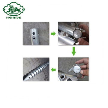 Galvanized Ground Screw For Road Sign