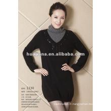 robe de tricot de cachemire de femmes de conception de mode