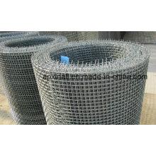 Tissu métallique ondulé à chaud de haute qualité trempé ou d'acier inoxydable (XA-CWM06)