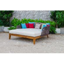 Best Selling Hot Trendy Design Poly Rattan Doppel Lounger Für Outdoor Garten