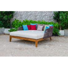 Best Selling Hot Trendy Design Poly Rattan Double Lounger For Outdoor Garden