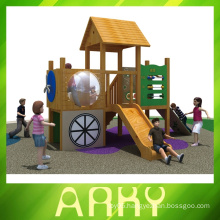 best quality small wooden outdoor playgrounds for sale