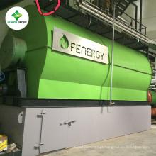 O óleo de 90% yiled a destilação plástica do óleo do pneumático waste à planta diesel