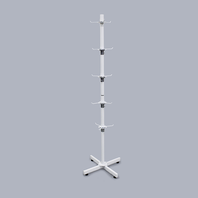 New Arrival White Floor Metal Display Stand