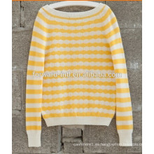 100% Cashmere Lady Knitted Pullover de alta calidad